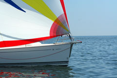Calm. Spinnaker. Stock Photography