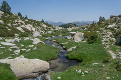Calm spring in Pyrenees mountains Stock Images