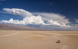 Calm before the storm. When I stepped out of the car for the very first time in the Death Valley I couldn't realize how hot 40 degrees celsius really are Royalty Free Stock Photography