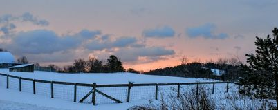 Calm after the Storm. Sunrise over the snow Stock Photography