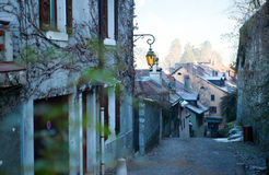 Calm street of Annecy Stock Photography