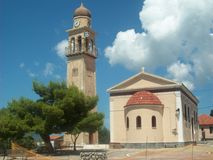 Calm summer day. Photo of a church in Croatia Royalty Free Stock Photos