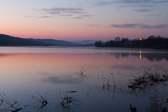 Calm sunrise Lake Stock Image