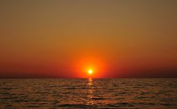 Calm sunset Stock Photography