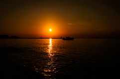 Calm Sunset Bay Royalty Free Stock Image