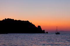Calm Sunset At Giglio Island Stock Photo