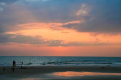 Calm sunset at goa india Royalty Free Stock Images