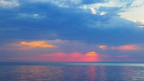 Calm sunset. On the sea stock footage