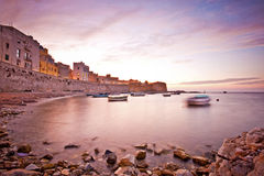 Calm sunset in Trapani bay Stock Photography