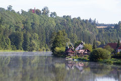 Calm surface. Of the river Luznice in the Czech republic Stock Images