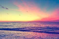 Calm surface of the sea. Stock Photos