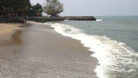 Calm swash and backwash at Kochi, Kerala beach stock footage