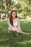Calm Teen Sitting Royalty Free Stock Image