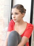 Calm teenage girl Stock Images