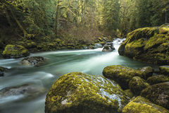 Calm Tides. Little Tramihi Creek, Chilliwack, BC, Canada Stock Photo