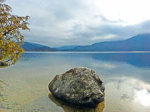 Calm and Tranquil View of Bohinj Lake Stock Photo