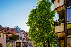 Calm and tranquility in small german city Stock Images