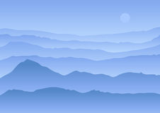 Calm vector landscape Royalty Free Stock Photos