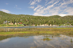 Calm water at Big Bear Stock Image