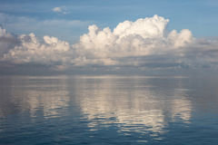 Calm Water and Clouds Royalty Free Stock Photos