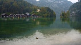 Calm water of konigsee lake. In germany Stock Photography