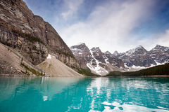 Calm water and mountain range Stock Image