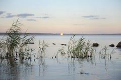 Calm Water Of Volga River Stock Photo
