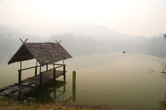 Calm waters. A peaceful lake in the northern region of Thailand Stock Images