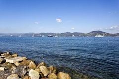Calm Waters of the Gulf of St. Tropez Stock Images