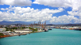 Calm Waters of Honolulu Harbor Oahu Royalty Free Stock Images