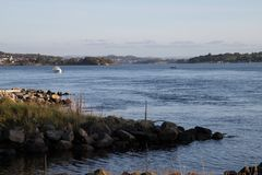 Hafrsfjord. Calm waters on a nice day Royalty Free Stock Photos