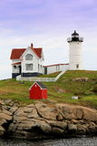 Calm waters at Nubble Lighthouse,York,September,2014 Royalty Free Stock Photos