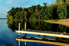 Calm Waters at Strongs Prairie Boat Dock Royalty Free Stock Images