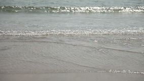 Calm waves of the Arabian Sea in India in Goa.  stock video