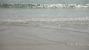 Calm waves of the Arabian Sea in India in Goa stock video