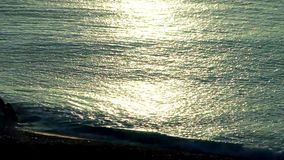 Calm waves in the ocean stock footage