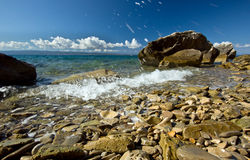 Calm weather on sea coast Royalty Free Stock Photography