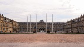 A calm weekend morning in Schlossplatz in Stuttgart, Germany. royalty free stock images