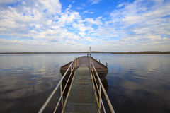 Calm and windless day over the lake Royalty Free Stock Photo