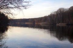Calm Winter Lake Stock Photo