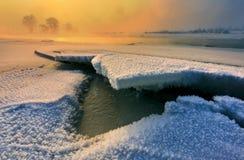 Calm winter landscape Stock Images