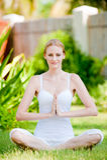 Calm Woman Stock Image