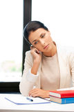 Calm woman with book Royalty Free Stock Photo