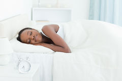 Calm woman sleeping Royalty Free Stock Photos