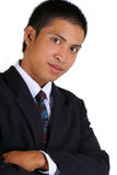 Calm young executive in pose Stock Photo