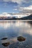 Calma 04 de la mañana del lago Imágenes de archivo libres de regalías