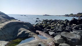 Calma da pedra do arenito da água Foto de Stock