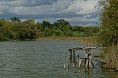 Calma de la mañana en el lago Foto de archivo