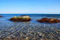 Calma delicada, o Mar Negro, Crimeia Foto de Stock