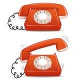 Calma e telefone antiquado de soada dos desenhos animados Fotografia de Stock Royalty Free